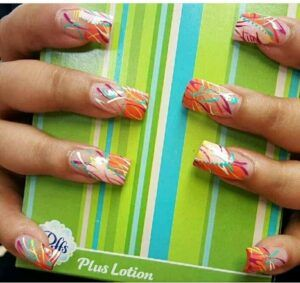 Multicolored nails photo for carousel